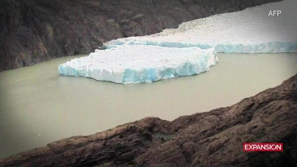 Milenario glaciar de la Patagonia chilena sufre un inusual desprendimiento