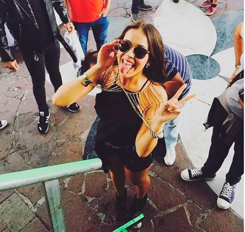 """La cantante de 20 años se presentó este fin de semana en Jalisco, donde interpretó el famoso tema """"Amor Eterno"""" acompañada por mariachi. ¡Escúchala!"""