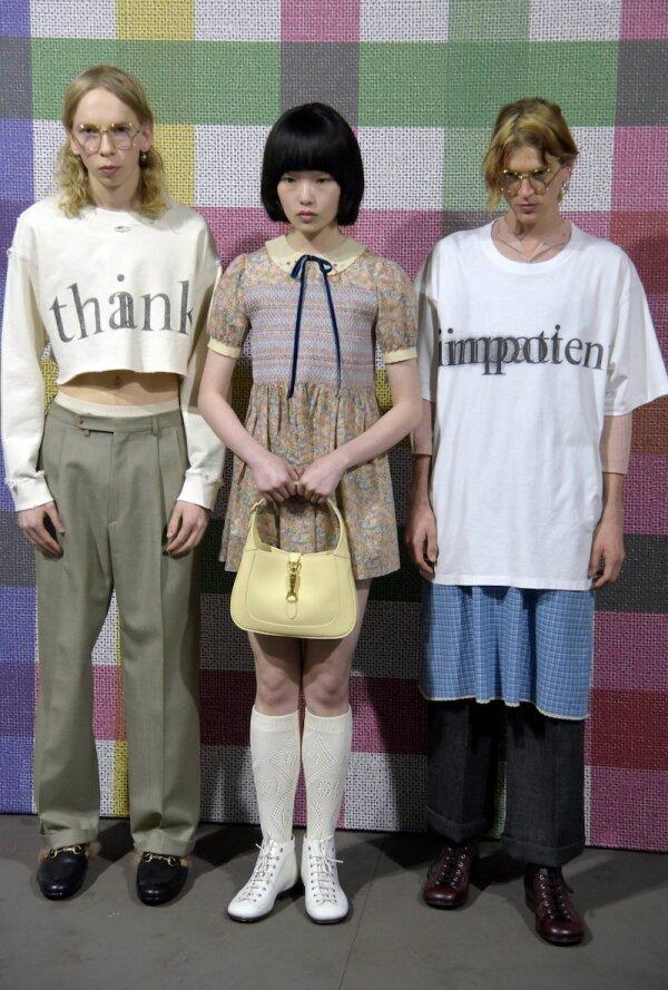 Gucci show, Backstage, Autumn Winter 2020, Milan Fashion Week Men's, Italy - 14 Jan 2020