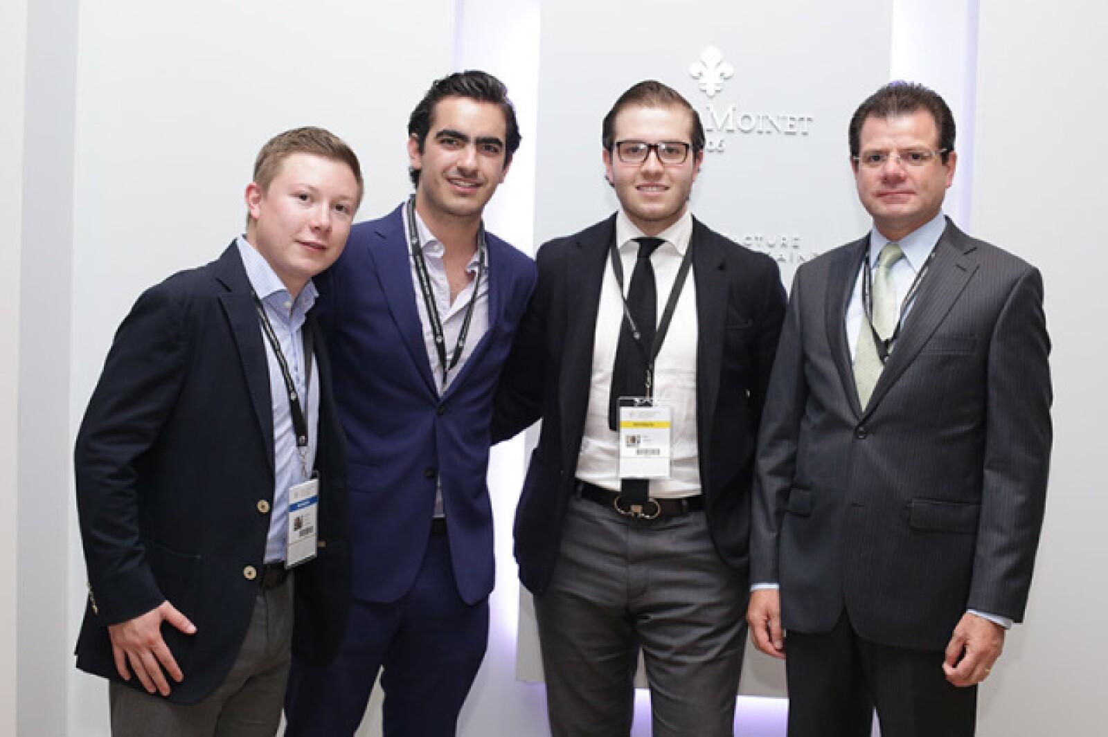 Rodrigo Lozano,José Andrés González,Íñigo Zañudo y Luis Lozano