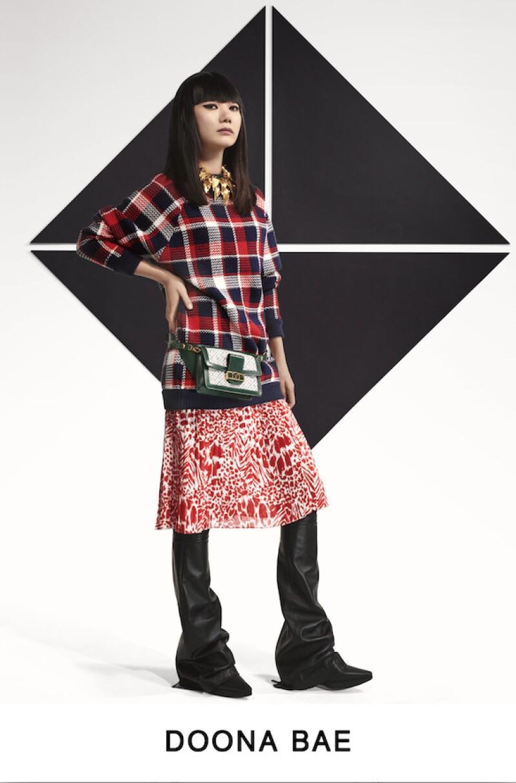 La actriz y fotógrafa surcoreana en Louis Vuitton Pre-Fall 2019