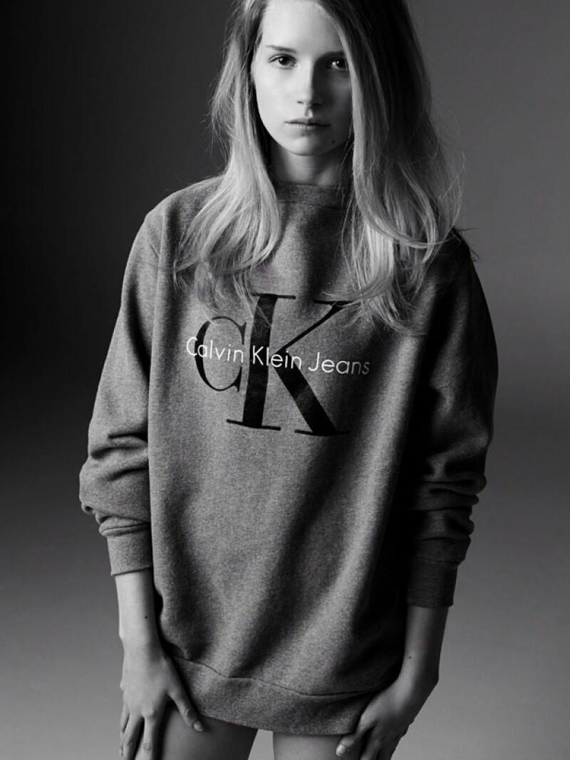 Lottie Moss modeló para Calvin Klein hace unos años.