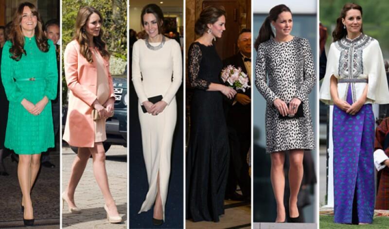 Los looks de Kate desde 2012 hasta ahora, entre ellos vestidos de gala o exóticos para su más reciente viaje a la India.