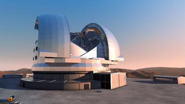 Render del Telescopio Europeo Extremadamente Grande, en Chile