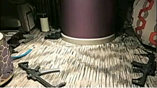 Imágenes de la habitación de Stephen Paddock luego del tiroteo en Las Vegas