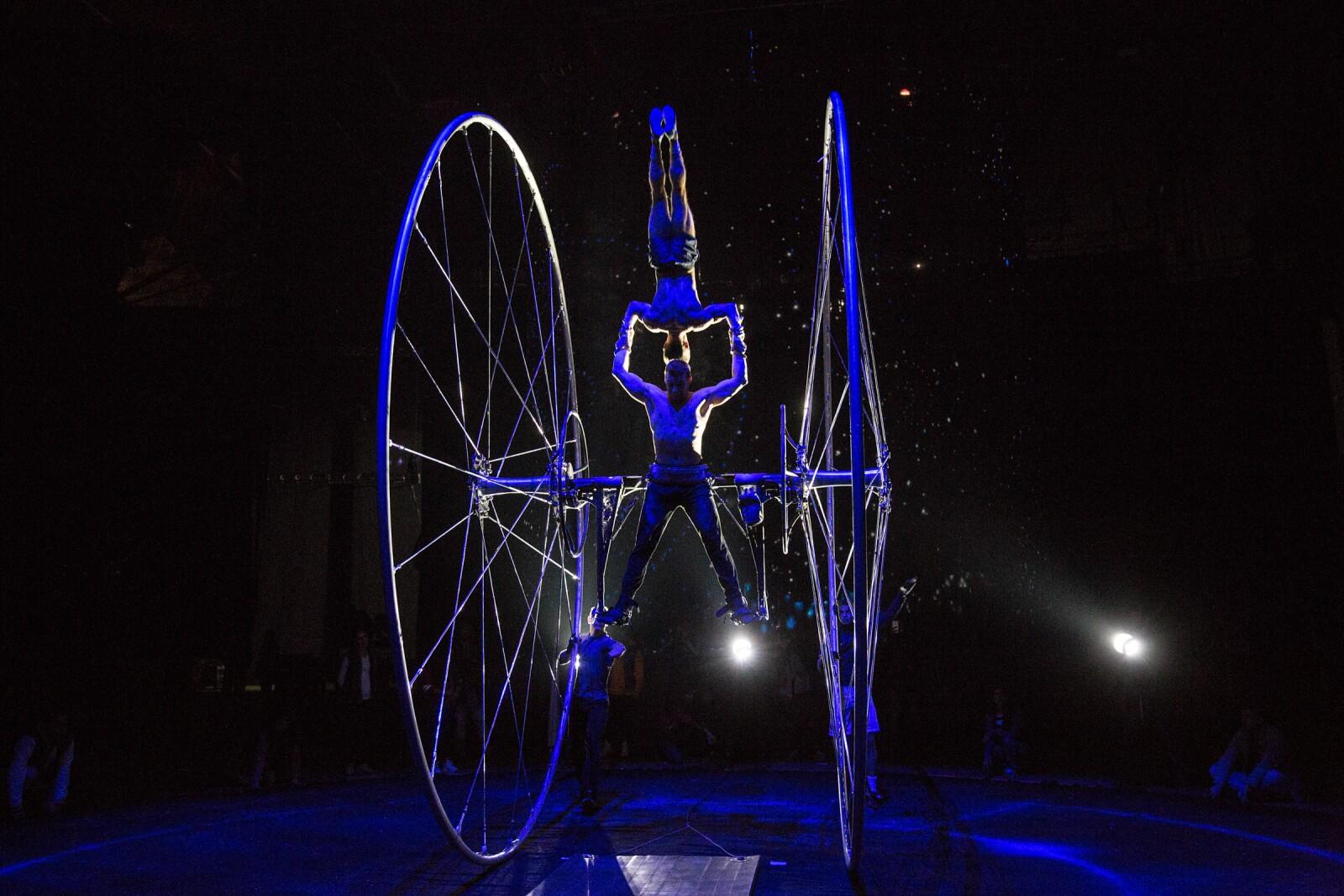 En los ensayos previos a Cirque Du Soleil Séptimo Día