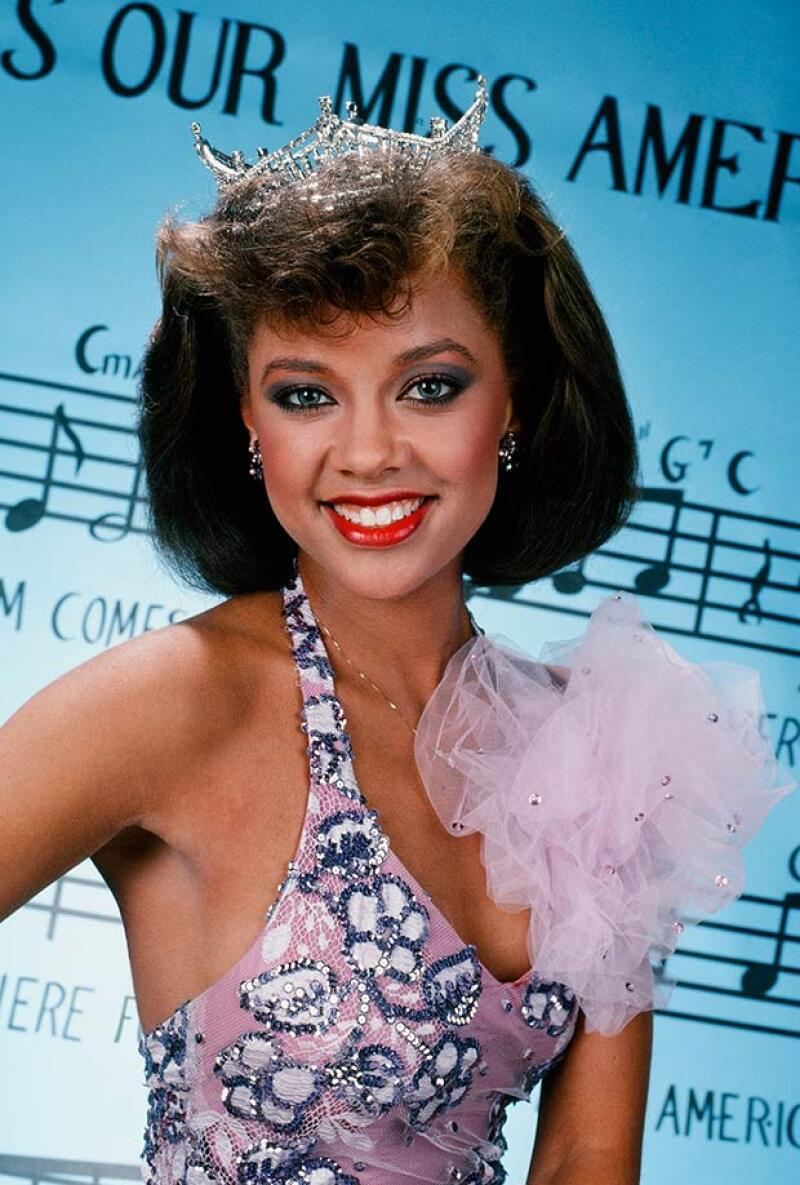 La actriz, cuando fue coronada Miss America en 1983, siendo la primera mujer afroamericana en conseguirlo.