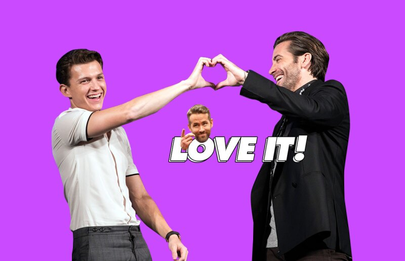 tom-holland-ryan-reynolds--Jake-Gyllenhaal-tshirt-challenge