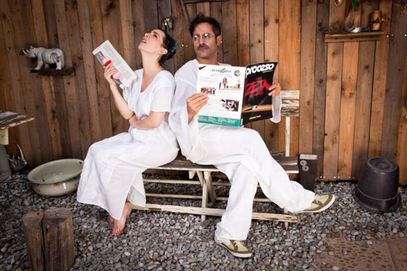 Claudia Lizaldi y Aarón Balderi hacen mancuerna en el montaje.