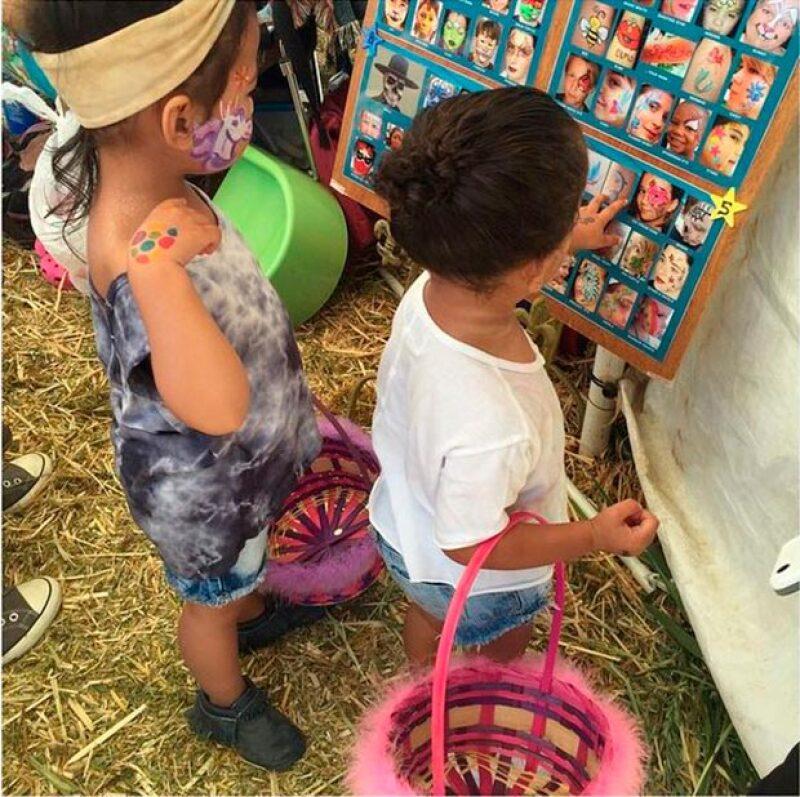 Las pequeñas también eligieron divertidos diseños para pintarse el rostro.