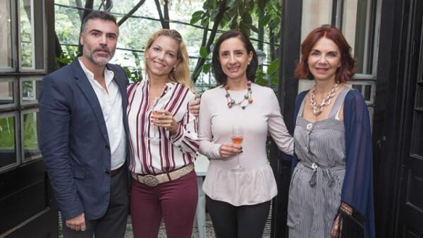 Nino Bauti, Alejandra de Cima, Bertha Aguilar y Lisette Trepaud