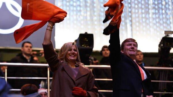 La Reina Máxima de Holanda y el Rey Guillermo Alejandro se hicieron presentes para apoyar a la delegación de su región.