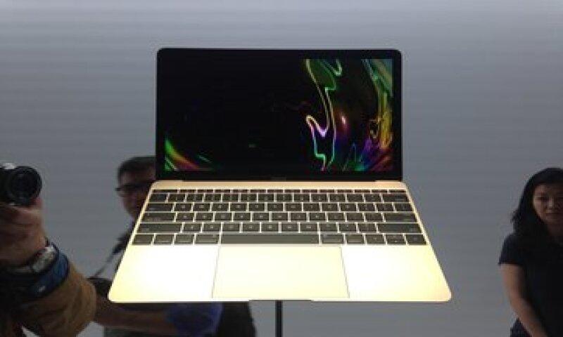 La nueva MacBook tendrá un precio en México de 22,999 pesos. (Foto: Gabriela Chávez )