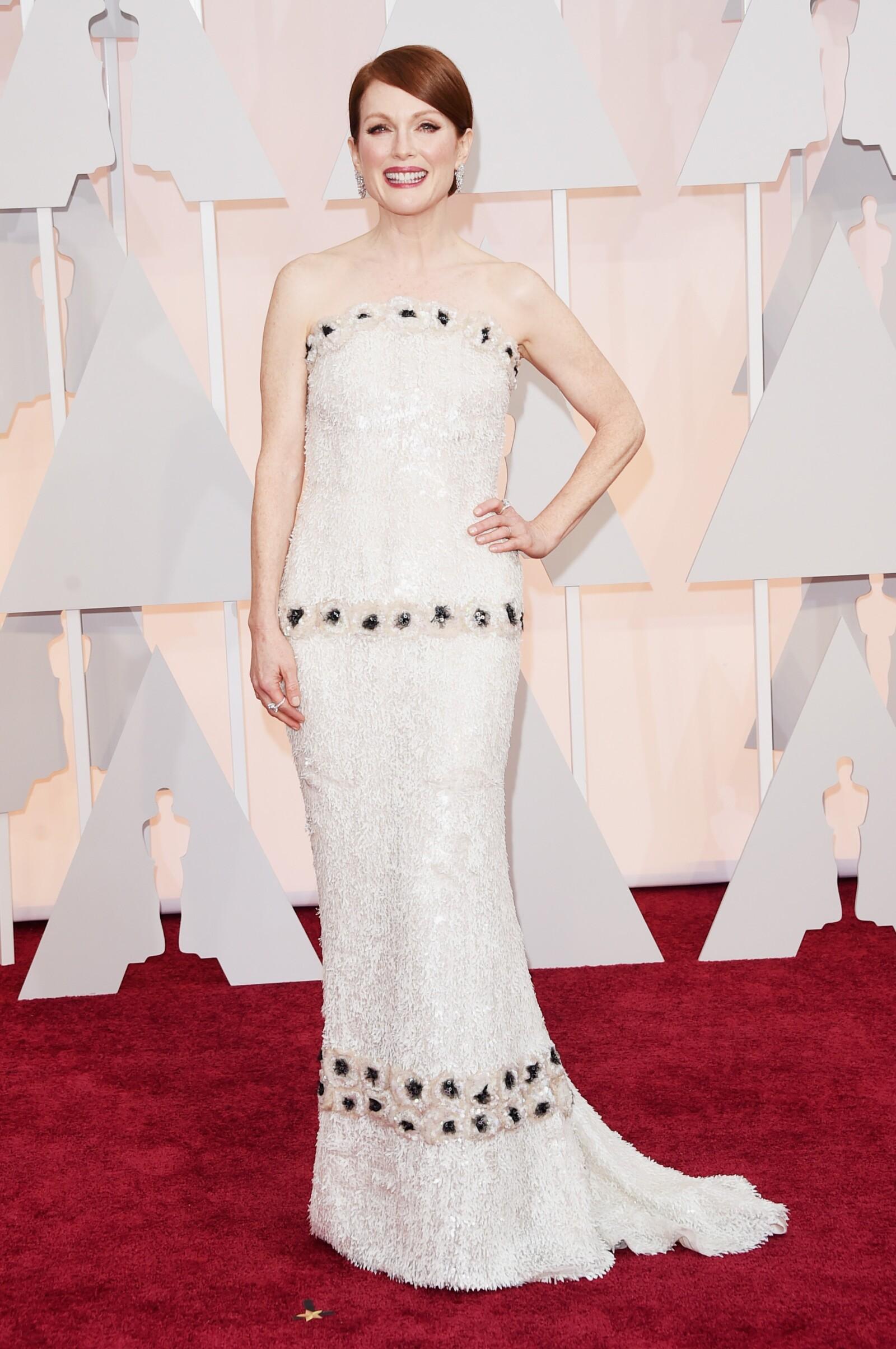 Jullian Moore eligió un look Chanel cuando ganara el Óscar a mejor actriz.