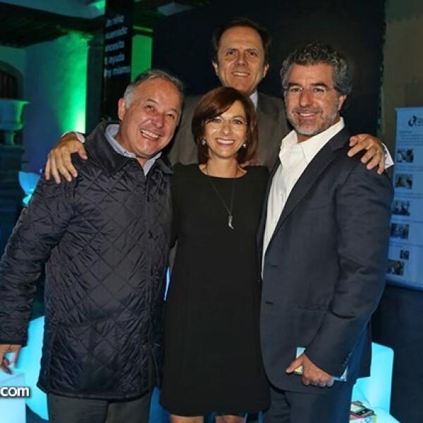 José Luis Franco, Marissa Méndez, Carlos Pruneda y José Luis Salamanca
