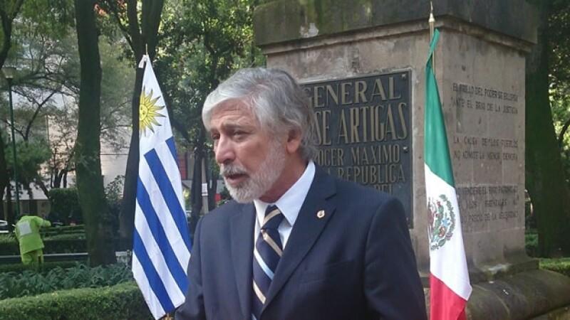 El embajador de Uruguay en México, Jorge Alberto Delgado Fernández, que fue citado por declaraciones de José Mujica