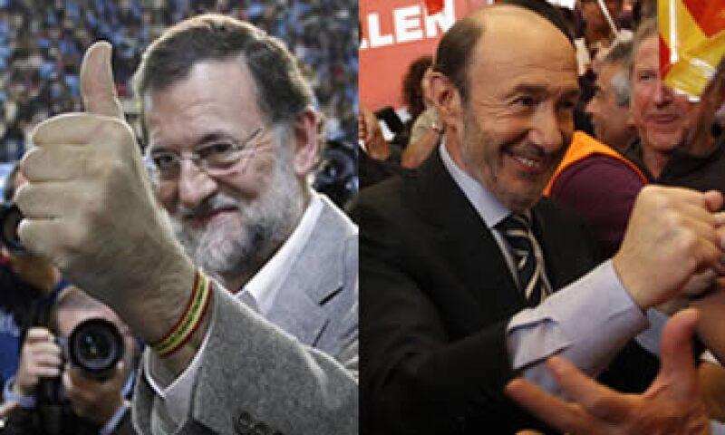 España irá a votará entre Rajoy y Rubalcaba en medio de una crisis que los puede orillar a pedir un rescate.  (Foto: Especial)