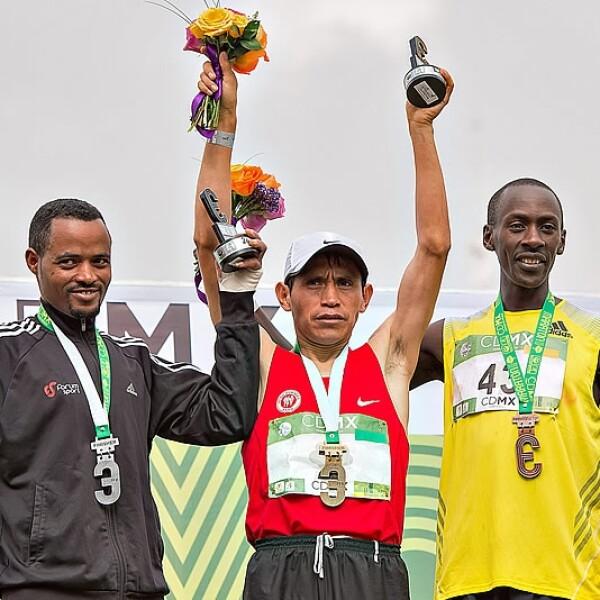 Ganadores rama masculina Maraton CDMX