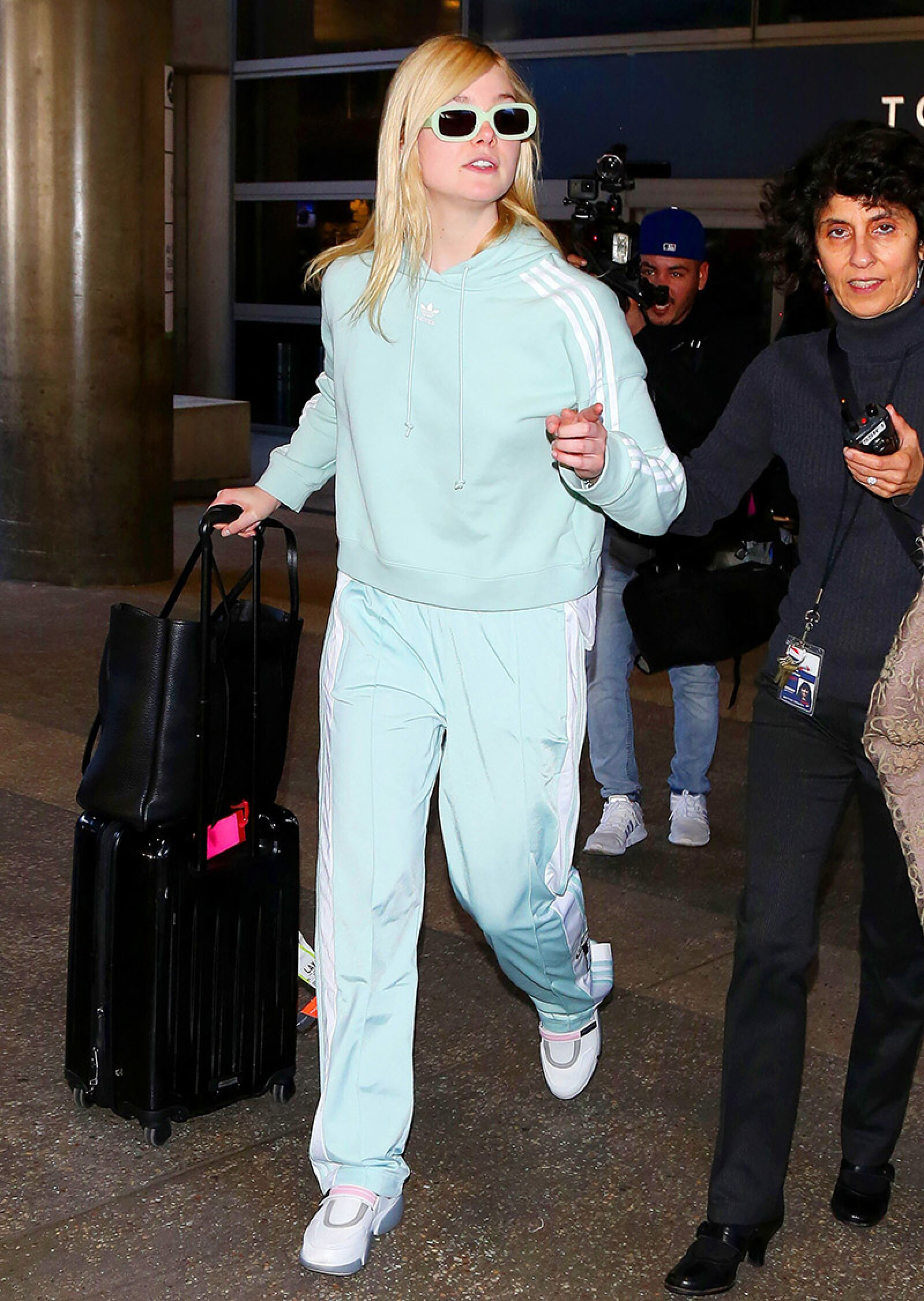 Elle Fanning at LAX International Airport, Los Angeles, USA - 21 Feb 2018