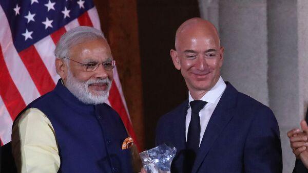 El ejecutivo de Amazon visitó la India esta semana en donde expresó sus nuevas inversiones.