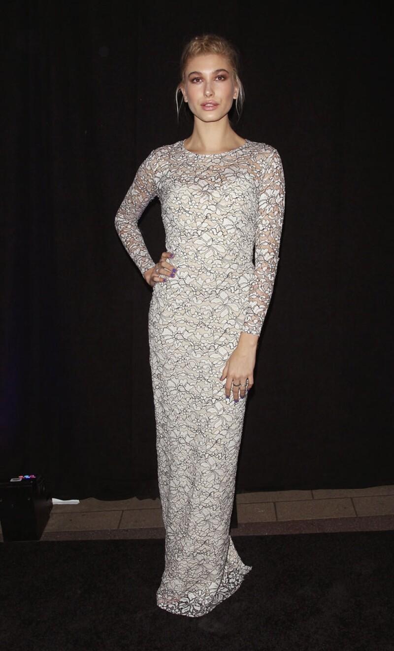 La cantante y la modelo fueron invitadas especiales a la cena por la apertura de &#39Top Man&#39 en la 5ª avenida de la Gran Manzana, acompañadas por el dueño de la marca, el millonario Phillip Green.