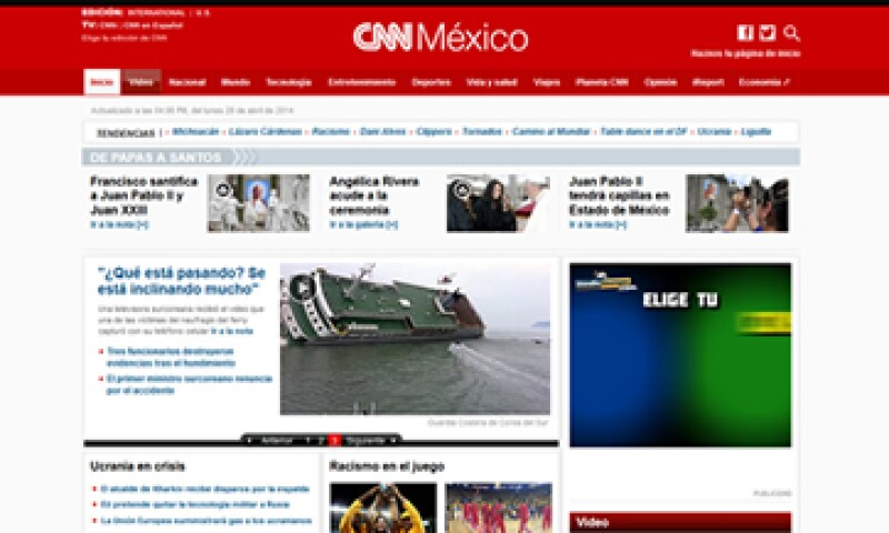 En 2010, Grupo Expansión y Turner, editaban y comercializaban CNNMéxico en conjunto. (Foto: tomada de www.cnnmexico.com)