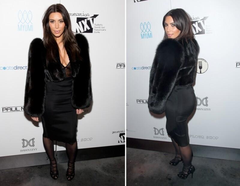 A Kim le importaron poco las bajas temperaturas.