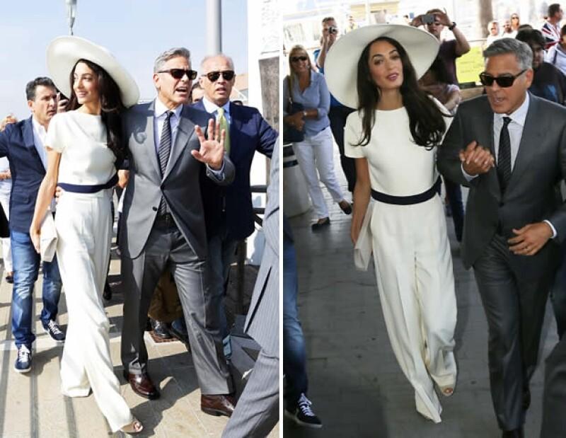 George Clooney y la guapa Amal Alamuddin celebraron su boda en Venecia, Italia, el fin de semana. Aquí los detalles de los outfits que la ahora Sra. Clooney lució.