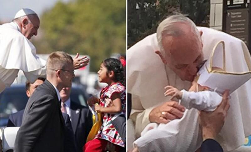 Francisco siempre se muestra afectivo ante los niños que lo saludan.