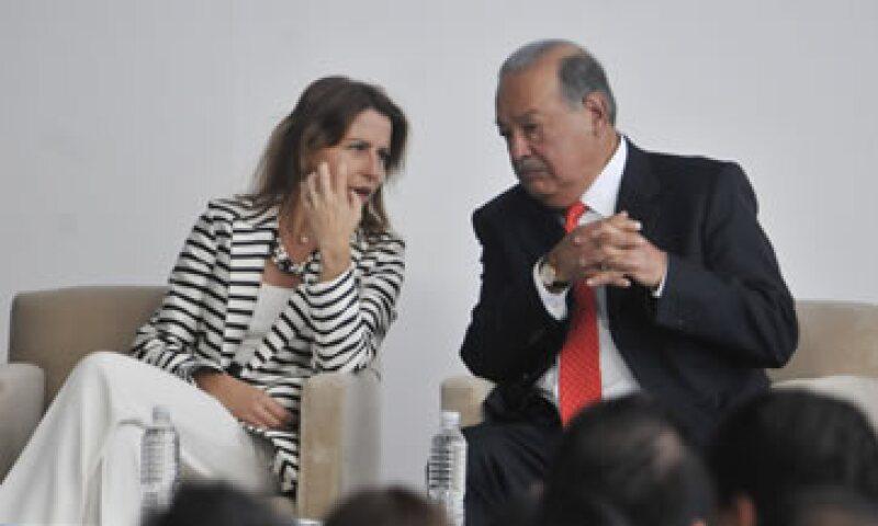Carlos Slim destacó la velocidad de conexión que ofrece su evento. (Foto: Cuartoscuro)