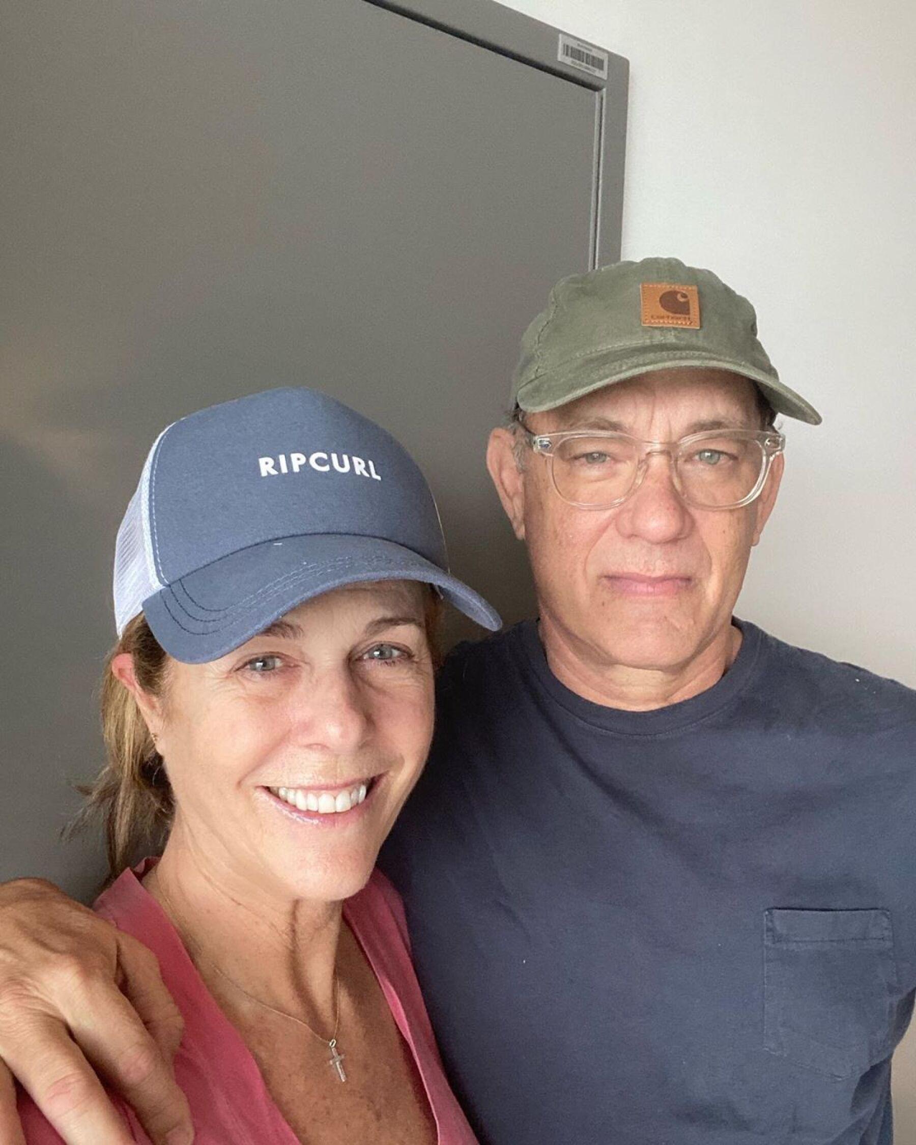 Rita Wilson y Tom Hanks.