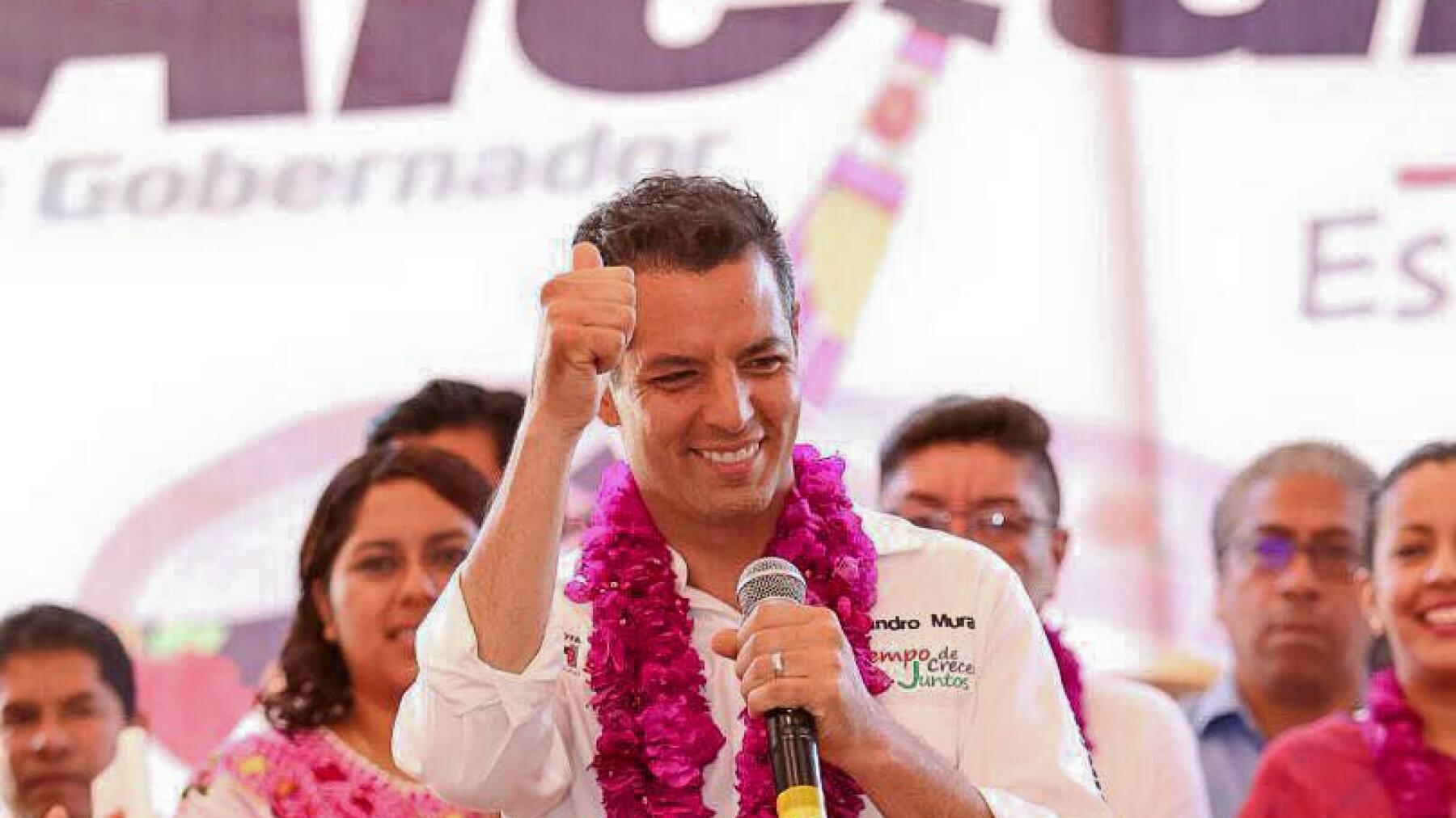 El candidato de la coalición PRI-PVEM-Panal