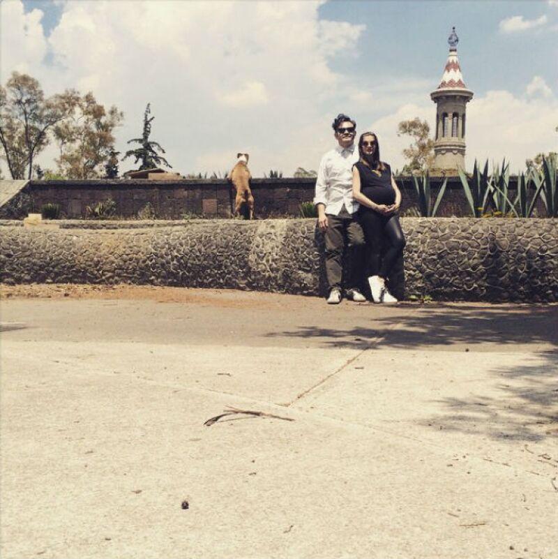Irene Azuela y Quique Rangel en su última foto en Instagram antes de convertirse en papás.