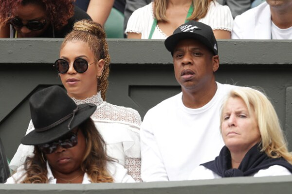 Beyoncé y Jay-Z asistieron a la final de Wimbledon, en donde salió ganadora Serena Williams.