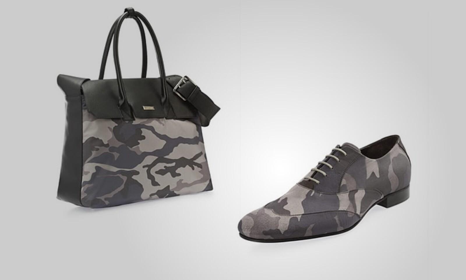 La marca también tiene como tendencia los colores militares, pero en tonos grises y blancos.