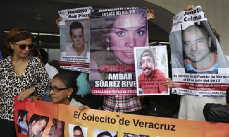 Familiares de las víctimas de secuestro en Tierra Blanca, Veracruz, el pasado 11 de enero. (Foto: Cuartoscuro )
