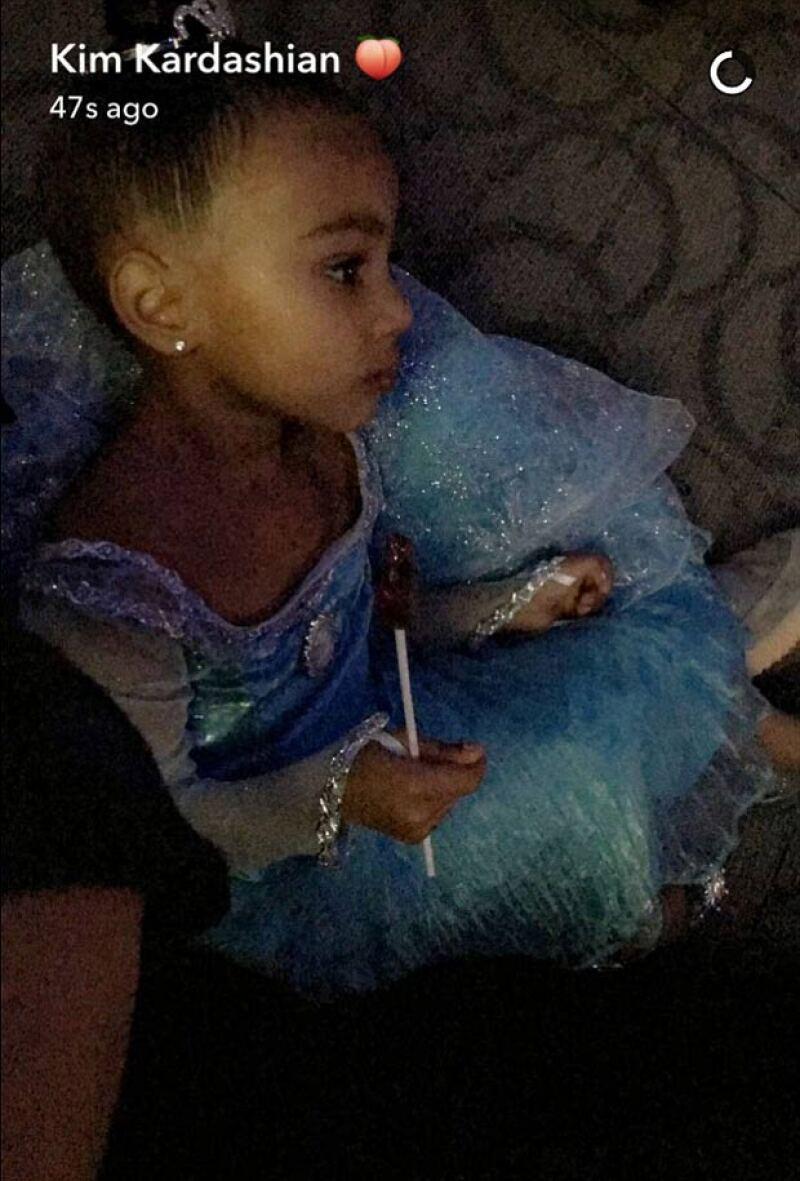 North se transformó en toda una princesa de Frozen