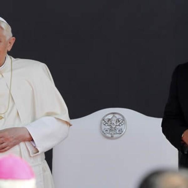 papa, benedicto, calderon, presidente