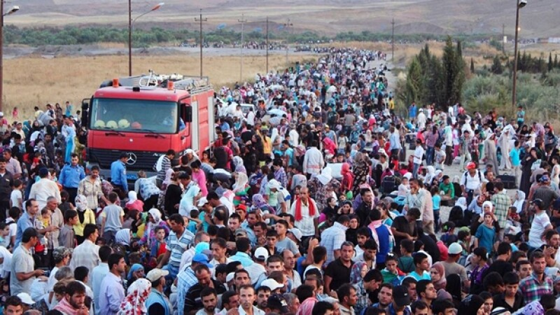 refugiados sirios huyen a iraq