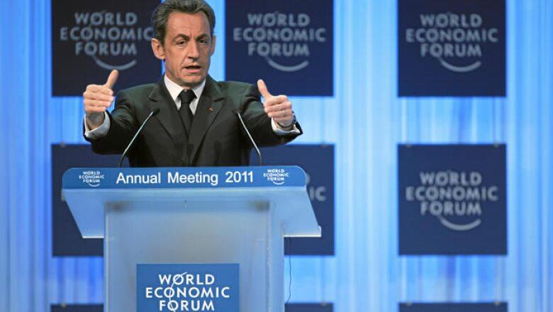 """Nicolas Sarkozy, presidente de Francia, dijo """"No existe una crisis del euro. Eso queda totalmente claro""""."""