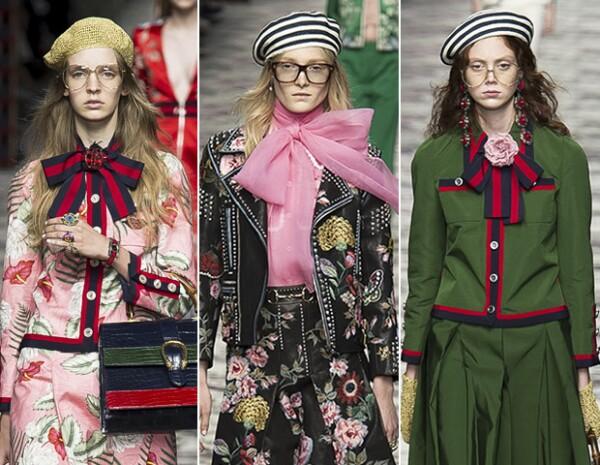 Los moños y los pins fueron el toque final y perfecto a los looks de Gucci.