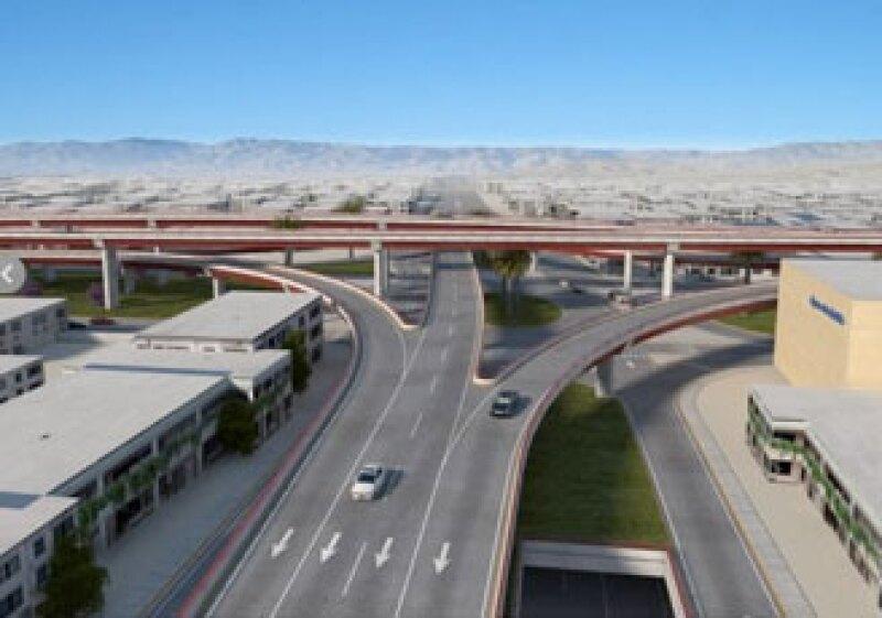 El Mega Distribuidor Vial El Indio-La Lechera, ubicado en Saltillo, cuenta con un avance de 57%. (Foto: Cortesía Gobierno de Coahuila)