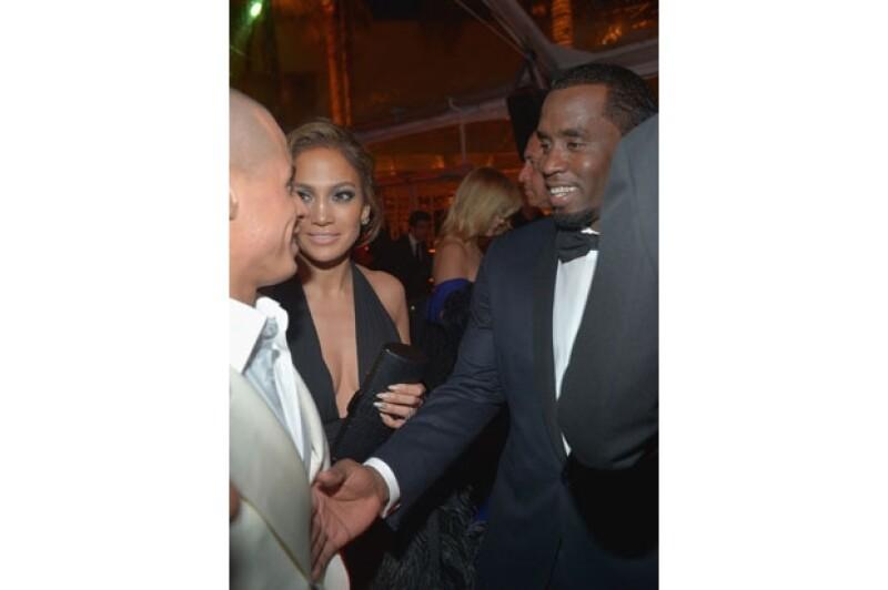 Pese a que hicieron todo lo posible por parecer relajados, se dice que el encuentro entre JLo y su ex, durante los Golden Globes fue más incómodo de lo aparente.