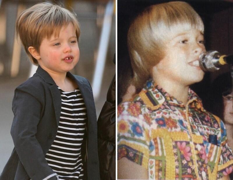 Comparando imágenes de Brad Pitt con fotos actuales de su hija mayor, Shiloh, es notorio que la manzana no cayó muy lejos del árbol y la niña cada día se parece más a su papá.