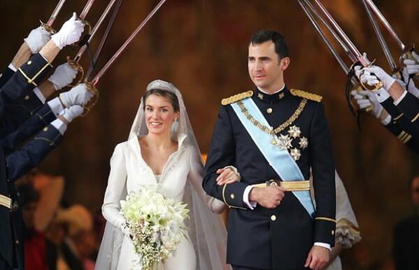 Aquí Letizia y Felipe el día de su boda en 2004.