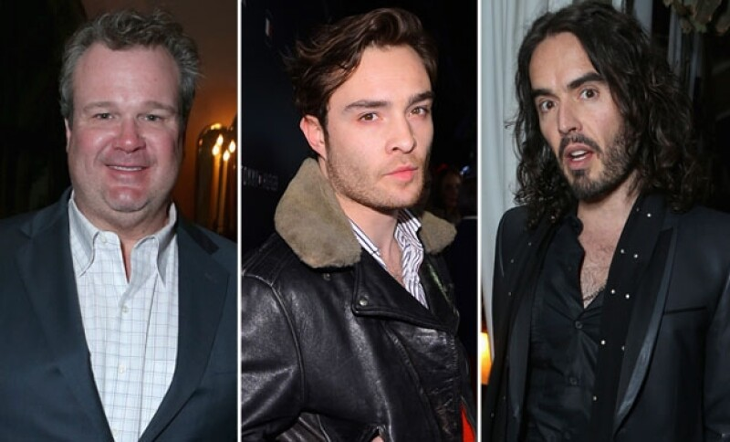 Eric Stonestreet, Ed Westwick y Russell Brand.