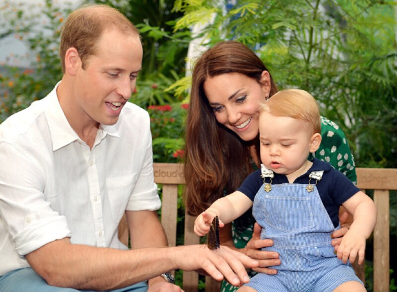 Esta no es la primera vez que baby George visita el Museo de Historia Natural de Londres, pues en su primer cumpleaños, sus padres lo llevaron a que disfrutara de la exhibición de mariposas.