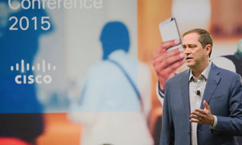 Chuck Robbins, CEO de Cisco en su primer conferencia de prensa global desde que tomó el cargo. (Foto: Cisco/Cortesía)