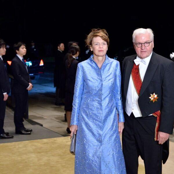 Presidente de Alemania Walter Steinmeier y su esposa Elke Budenbender