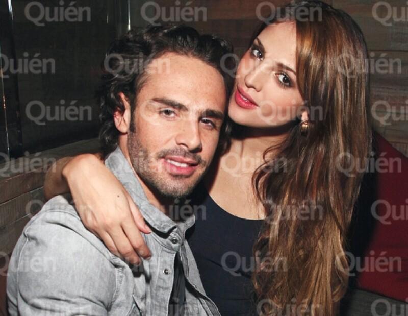 Pepe Díaz y Eiza González durante el cumpleaños del joven empresario.